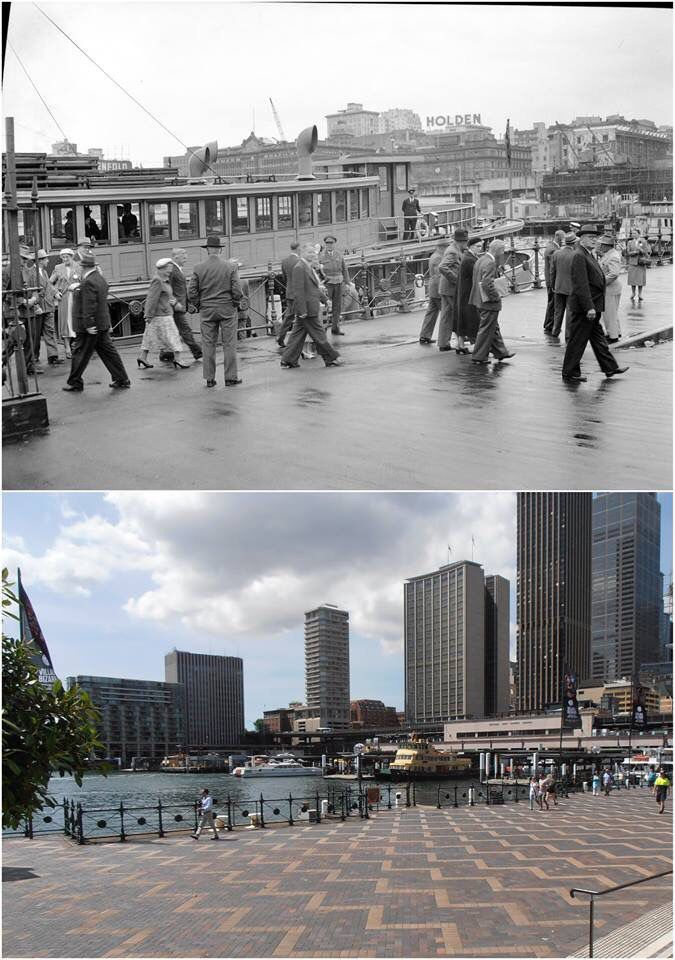 Commissioners Steps, West Circular Quay 1954 - 2015. [City of Sydney Archives / Kevin Sundgren. By Kevin Sundgren]