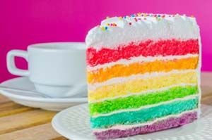 Gluten Free Rainbox Cake: The recipe for this gluten free rainbow cake is also dairy-free. Of course, you will need to use a dairy-free frosting or dairy-free whipped cram (which I do not list below). This cake is great for kids' parties or to brighten up anyone's day.