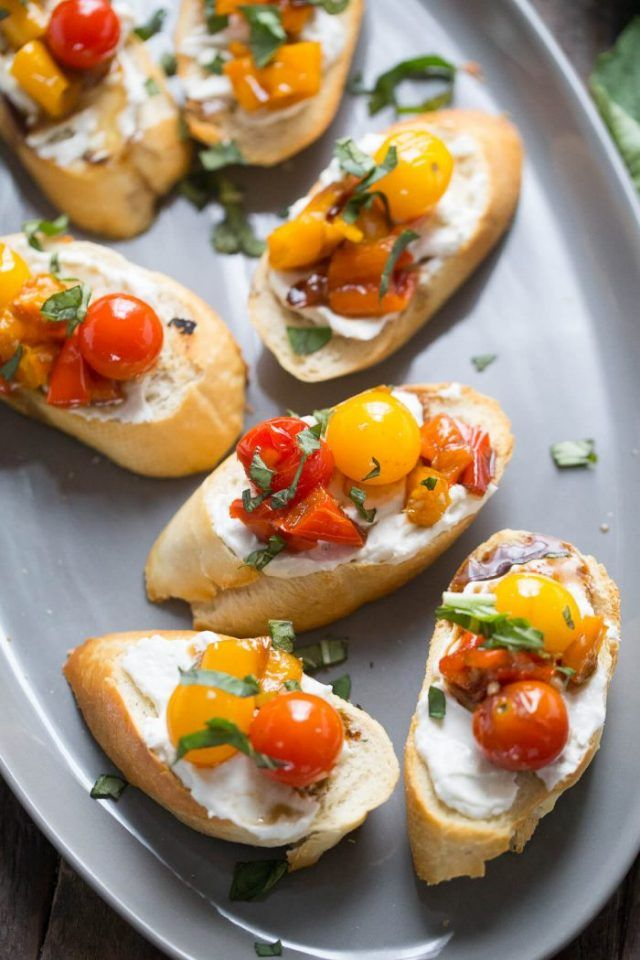 Bruschetta with Roasted Veggies by Lemons for Lulu