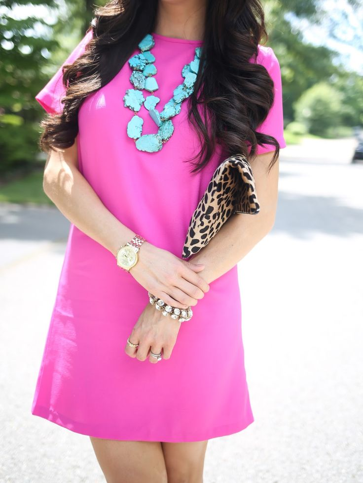 pink, turquoise, leopard