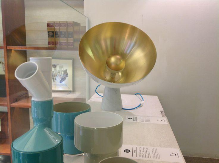 Exhibit set up - Florsheim store, april 2014 Milano fuorisalone preview