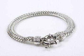Crystal Braid Bracelet Silver – Jewel Online