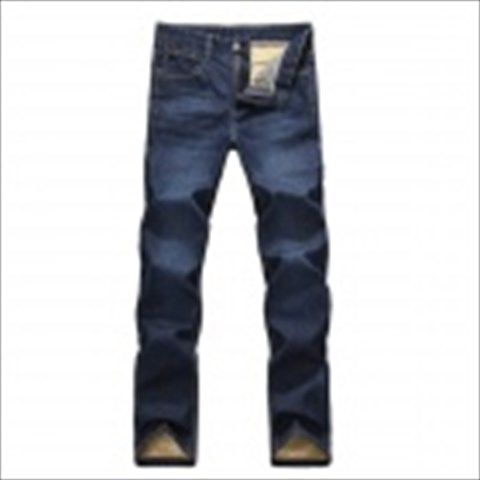 YH70 Men's Fashion Gold Wool And Wool Thickening Jeans Pants - Deep Blue (Size 38) $42.63