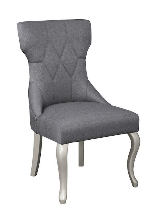 Ashley D650 01 Coralayne Glam Side Chair Free Shipping Side Chairs Dining Upholstered Dining Side Chair Upholstered Side Chair