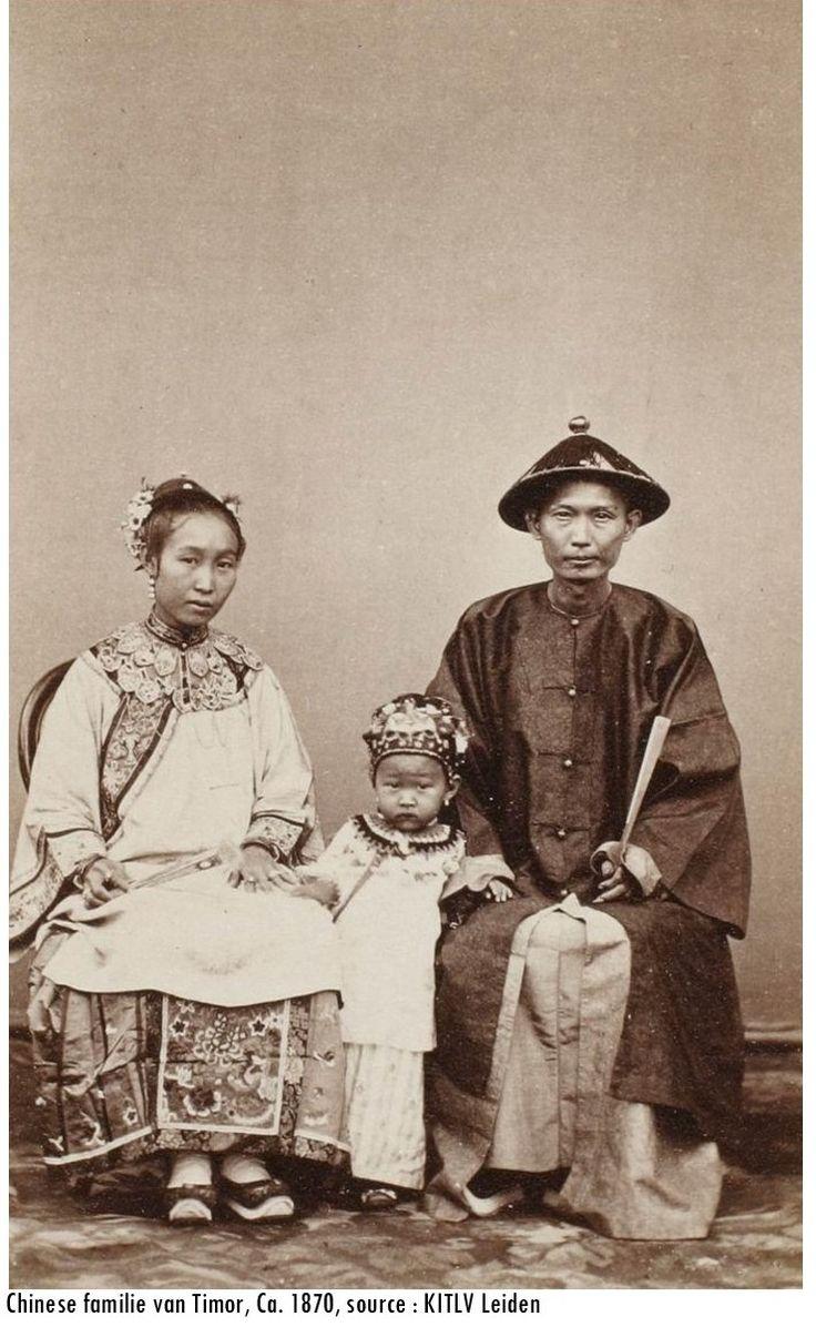 Chinese familie van Timor, ca 1870