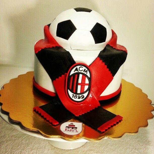 AC Milan Cake/ Soccer Cake / pasion por el fútbol