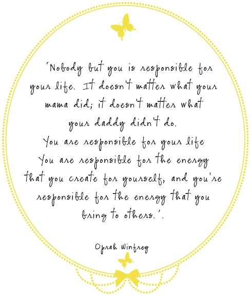 A quote from Oprah