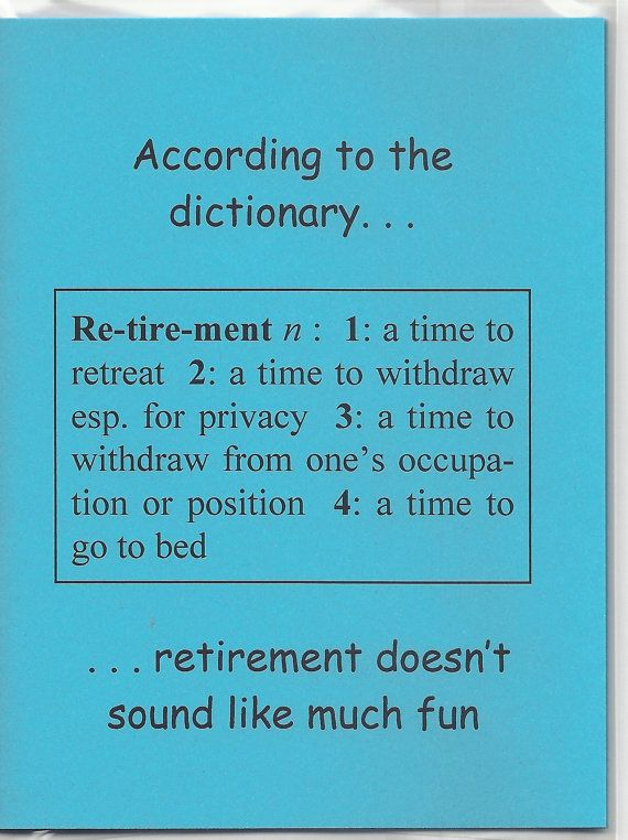 Retirement Sentiments