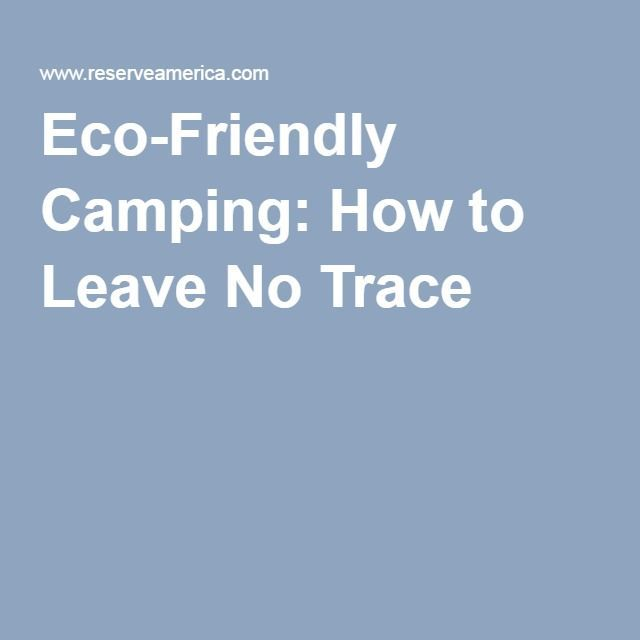 Eco-Friendly Camping: How to Leave No Trace