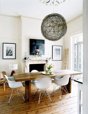 Love The Light Fixture And The Modern Chairs Combined With The