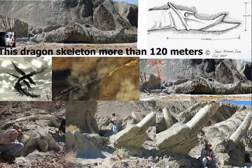 Esqueleto Gigante de um Dragão com 120 Metros Descoberto no Deserto Iraniano, Fake ou Real?