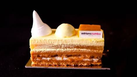 Chef Adriano Zumbo's Mango Mousse Cake recipe.