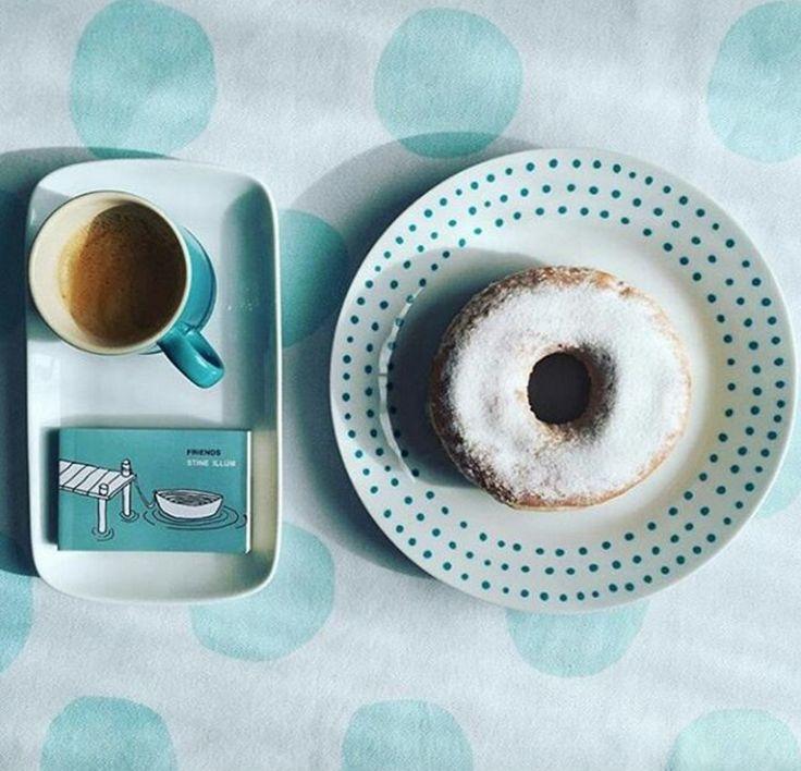 Image credit: petuniaollister #tigerstores #breakfastwithtiger #doughnuts #blue #tiffanyblue #yum #foodie #food