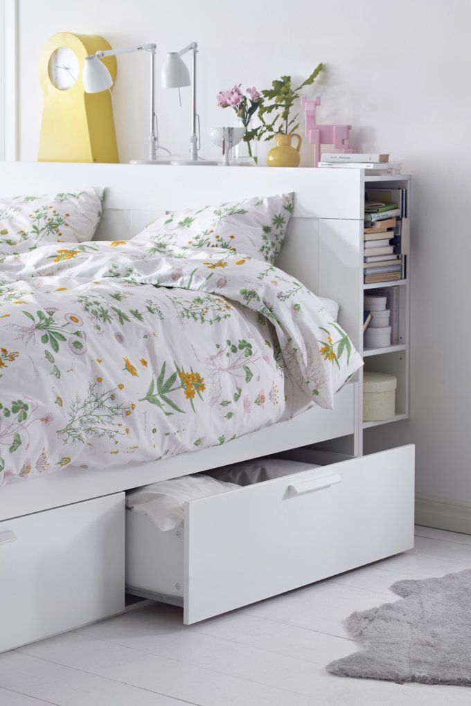 Bed Frame With Storage, Ikea Bed Frame With Storage Brimnes