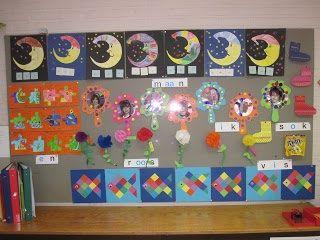 Werkjes gemaakt door leerlingen van groep 3 bij kern 1