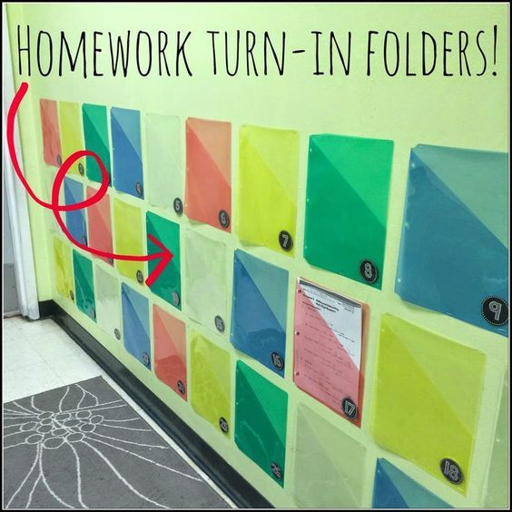 Make turning in homework a breeze with a handy classroom wall station.