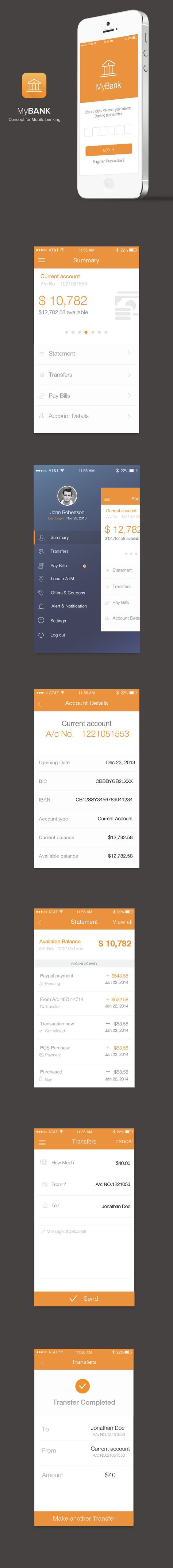 Bank App by sumit chakraborty, via Behance:
