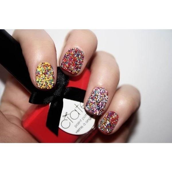 Caviar Manicure 2012 unghie caviale tutorial ❤ liked on Polyvore