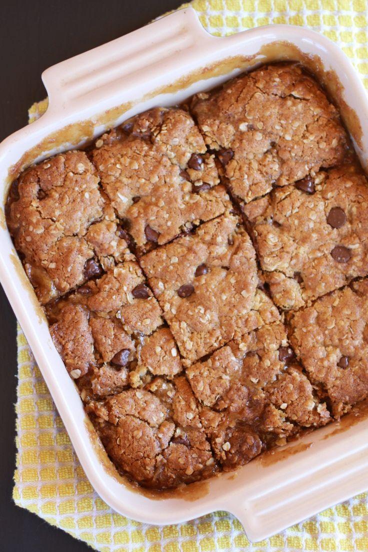 Oatmeal Chocolate Carmel Bars - Half Baked Harvest