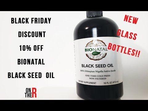 BLACK FRIDAY DEAL 10% OFF BIONATAL BLACK SEED OIL + GLASS