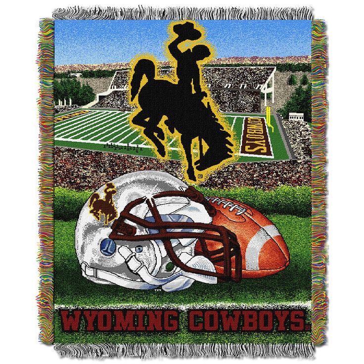Wyoming Cowboys Tapestry Throw by Northwest, Multicolor