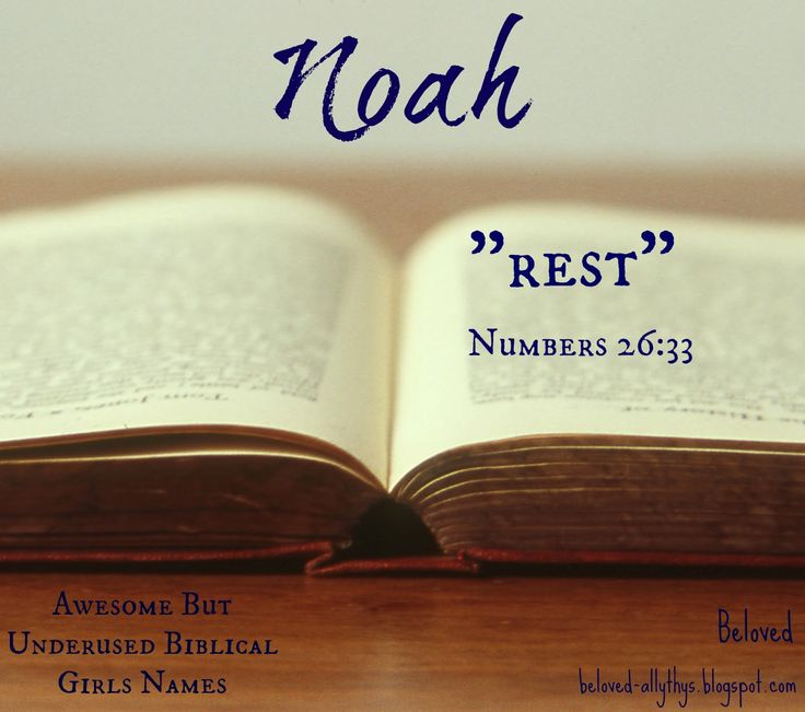 Beloved Baby Names: Noah is a girls name in the Bible too ...