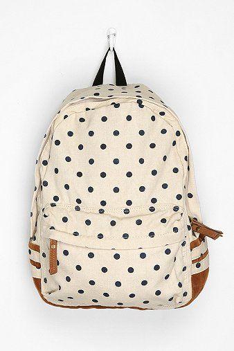 Carrot Polka Dot Backpack via @Ashley Goldberg