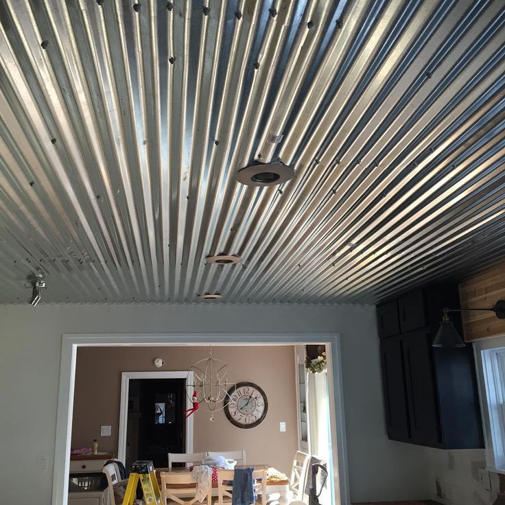 Our Corrugated Tin Ceiling That My Husband Installed It