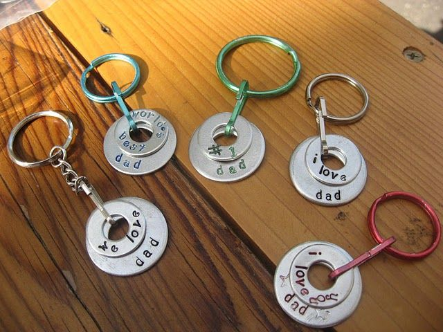 Father's Day Keychain Kid's Project from Girl-in-Air