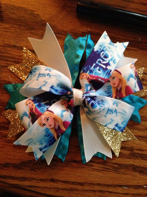 Frozen hairbow on Etsy, $7.00