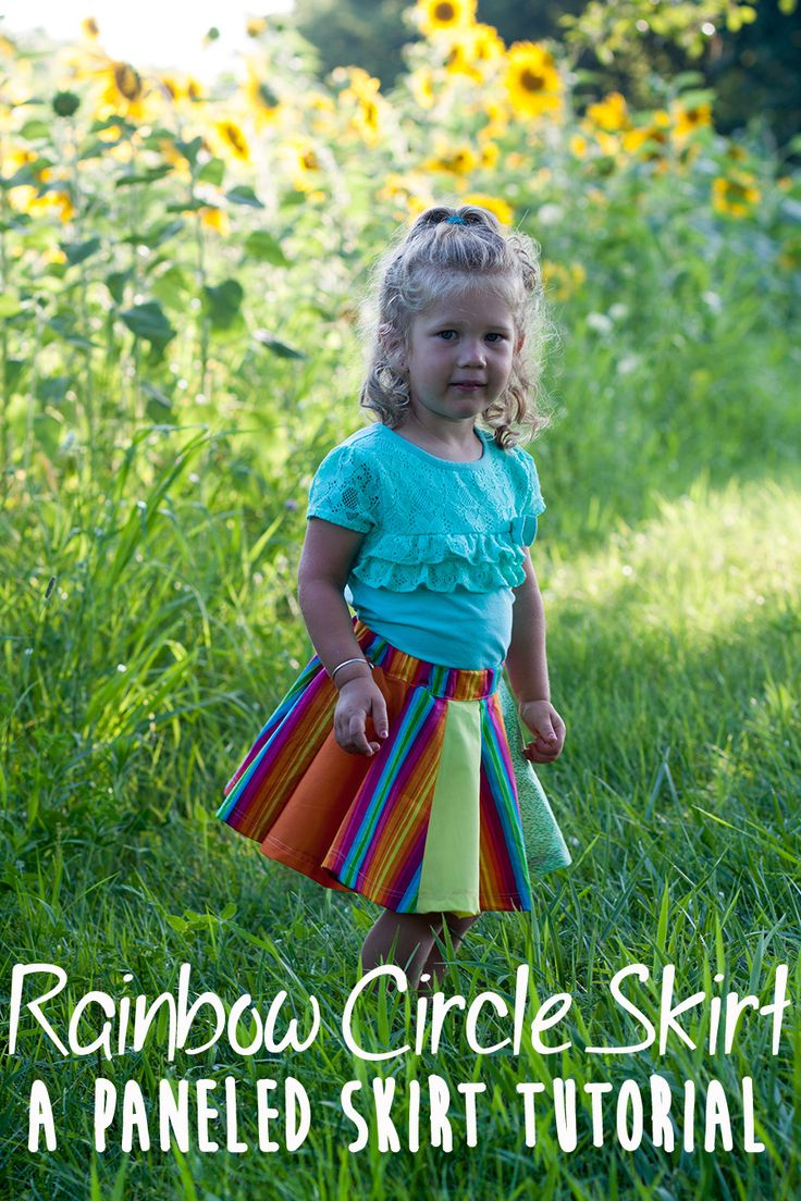 Rainbow Circle Skirt A Paneled Skirt Tutorial