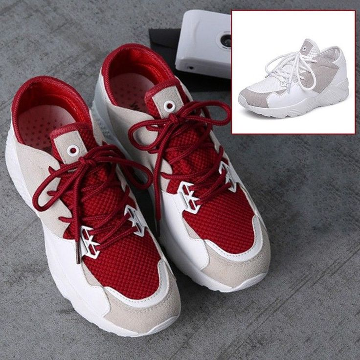 Latest Women Sports Shoes Multi-Color Thickened Soles Sneakers Fitness Trainers