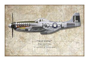Покраска самолетов - Сюзанна Р-51d Мустанг - карта фон Крейг трут