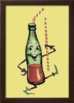 Dancing Pop Bottle Print by Pop Ink - CSA Images at Art.com