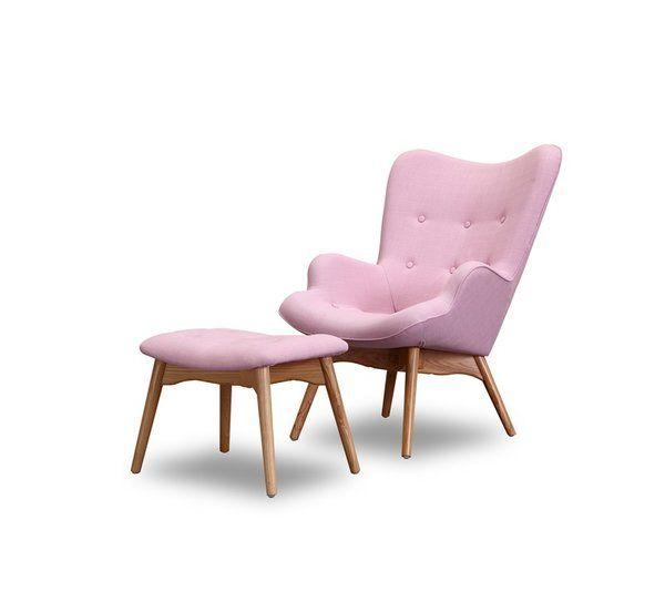 Corrigan Studio Ali Mid Century Wingback Chair and Ottoman & Reviews | Wayfair