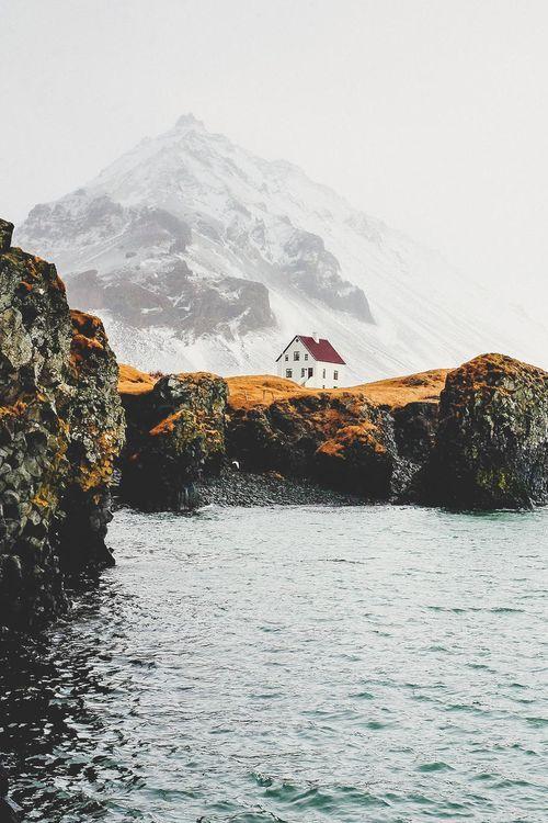 Cliff House, Anarstarpi, Iceland