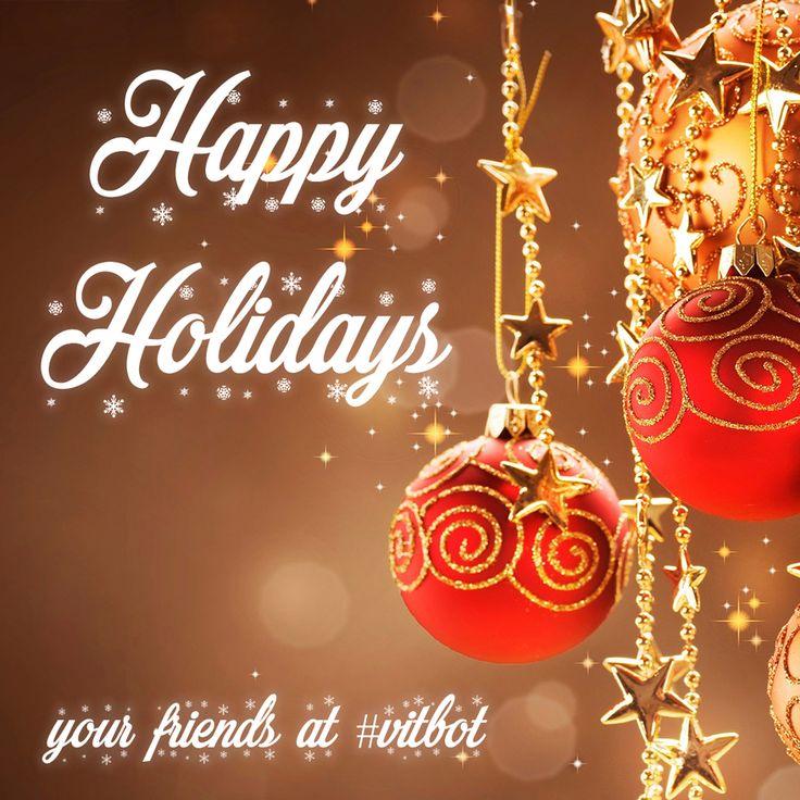 Happy Holidays from all of us @vitbotofficial #vitbot #holidays