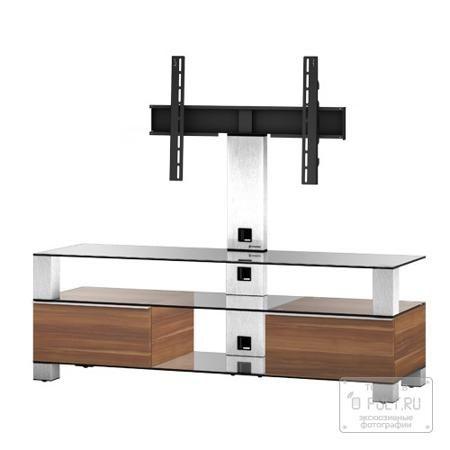 Sonorous MD 8143-C-INX-APL  — 54000 руб. —  Надежная стойка под большие телевизоры с универсальным поворотным креплением из закаленного стекла с закругленными углами и полированной кромкой. Поворотное крепление подходит для всех видов плоских телевизоров (LCD, LED и плазма) и имеет возможность регулировки высоты. В задней ножке расположен кабель-канал для маскировки проводов и кабеле. Оснащена скрытой роликовой системой для плавного перемещения ТВ стойки вместе с телевизором и другой…