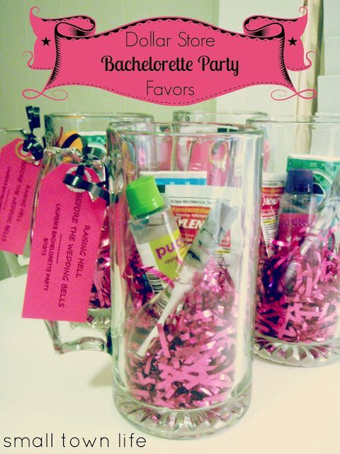 For planning a bridal shower or bachelorette party on a budget! Here are some ideas you can grab at the dollar store for your favors. ♥ Atlanta.PWGShows.com
