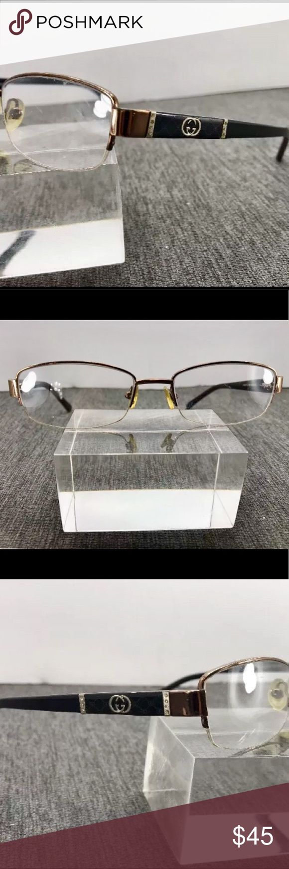 Gucci Eyeglass Frames Bronze and Black Gucci GG9670J Eyeglasses. Measurements: 52-16-135. Made in Italy. Great condition. Add your own prescription lenses. Gucci Accessories Glasses