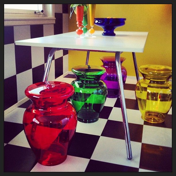 Colorful - La Bohème by Philippe Starck  ||  #Funky chairs from #kartell - Thanks to @sarahreedceramics  Instagram User