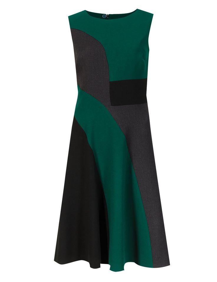 4-Way Stretch Colour Block Skater Dress