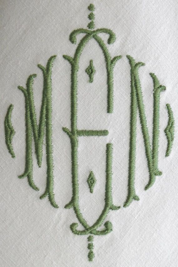 monogrammed napkins monogram napkin by burgundydelights on etsy - Linen Monogrammed Napkins