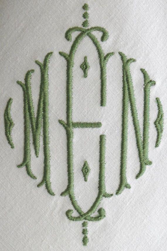 25  best ideas about monogrammed napkins on pinterest