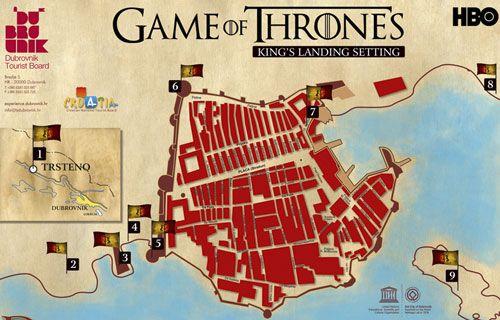 A Trónok harca forgatási helyszínei Dubrovnikban.