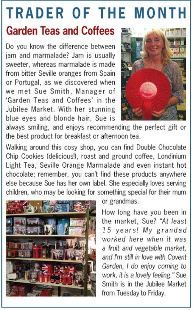 Covent Garden Teas and Coffees - General Market - September 2014 winner