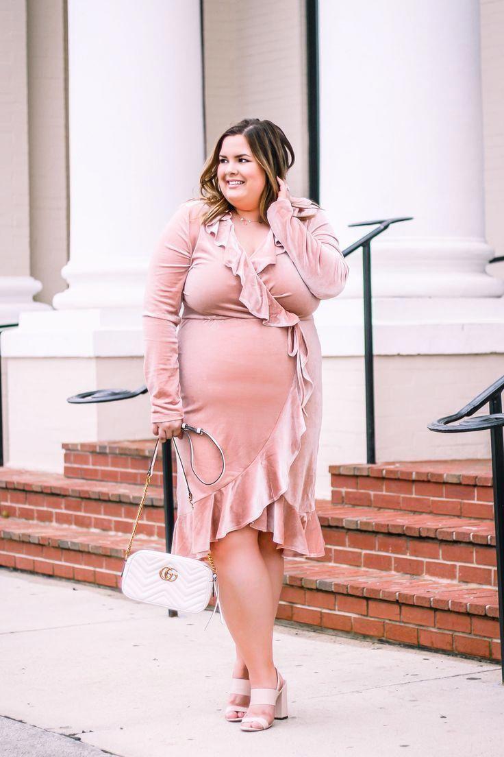Affordable Plus Size Dresses | Velvet Wrap Dress | Fashion Tips in ...