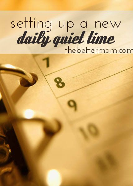 Changing seasons can make setting up a new quiet time routine quite challenging. Here are some tips to make the transition smooth.