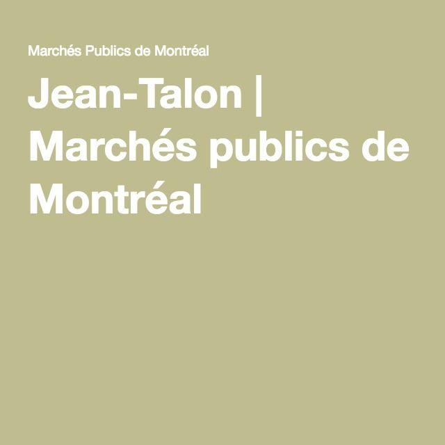 Jean-Talon   Marchés publics de Montréal