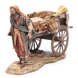 Pastor con carrito 13 cm Angela Tripi | venta online en HOLYART